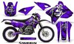 Suzuki DRZ400 Enduro CreatorX Graphics Kit Samurai Black Purple NP Rims 150x90 - Suzuki Dirt Bike Graphics