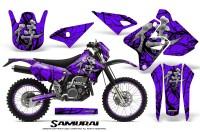 Suzuki-DRZ400-Enduro-CreatorX-Graphics-Kit-Samurai-Black-Purple-NP-Rims