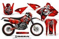 Suzuki-DRZ400-Enduro-CreatorX-Graphics-Kit-Samurai-Black-Red-NP-Rims
