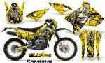 Suzuki DRZ400 Enduro CreatorX Graphics Kit Samurai Black Yellow NP Rims 150x90 - Suzuki Dirt Bike Graphics