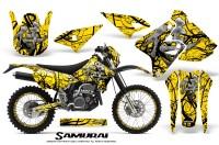 Suzuki-DRZ400-Enduro-CreatorX-Graphics-Kit-Samurai-Black-Yellow-NP-Rims