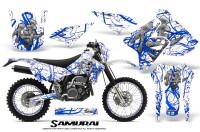 Suzuki-DRZ400-Enduro-CreatorX-Graphics-Kit-Samurai-Blue-White-NP-Rims