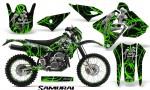 Suzuki DRZ400 Enduro CreatorX Graphics Kit Samurai Green Black NP Rims 150x90 - Suzuki Dirt Bike Graphics