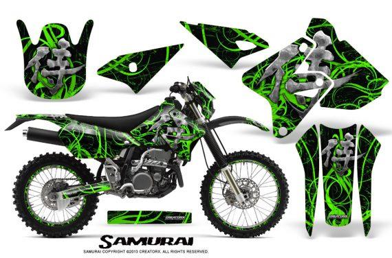 Suzuki DRZ400 Enduro CreatorX Graphics Kit Samurai Green Black NP Rims 570x376 - Suzuki Dirt Bike Graphics