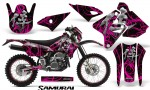 Suzuki DRZ400 Enduro CreatorX Graphics Kit Samurai Pink Black NP Rims 150x90 - Suzuki Dirt Bike Graphics