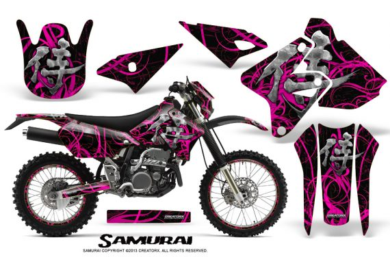 Suzuki DRZ400 Enduro CreatorX Graphics Kit Samurai Pink Black NP Rims 570x376 - Suzuki Dirt Bike Graphics
