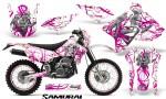 Suzuki DRZ400 Enduro CreatorX Graphics Kit Samurai Pink White NP Rims 150x90 - Suzuki Dirt Bike Graphics