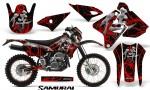 Suzuki DRZ400 Enduro CreatorX Graphics Kit Samurai Red Black NP Rims 150x90 - Suzuki Dirt Bike Graphics