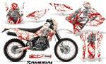 Suzuki DRZ400 Enduro CreatorX Graphics Kit Samurai Red White NP Rims 150x90 - Suzuki Dirt Bike Graphics