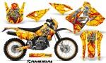Suzuki DRZ400 Enduro CreatorX Graphics Kit Samurai Red Yellow NP Rims 150x90 - Suzuki Dirt Bike Graphics