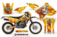 Suzuki-DRZ400-Enduro-CreatorX-Graphics-Kit-Samurai-Red-Yellow-NP-Rims