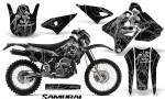 Suzuki DRZ400 Enduro CreatorX Graphics Kit Samurai Silver Black NP Rims 150x90 - Suzuki Dirt Bike Graphics