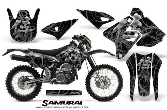 Suzuki DRZ400 Enduro CreatorX Graphics Kit Samurai Silver Black NP Rims 570x376 - Suzuki Dirt Bike Graphics