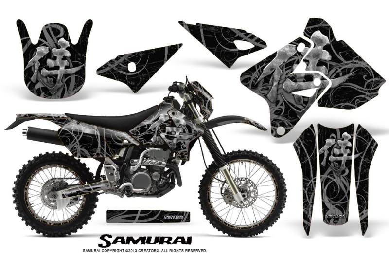 Suzuki-DRZ400-Enduro-CreatorX-Graphics-Kit-Samurai-Silver-Black-NP-Rims