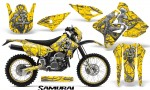 Suzuki DRZ400 Enduro CreatorX Graphics Kit Samurai Silver Yellow NP Rims 150x90 - Suzuki Dirt Bike Graphics