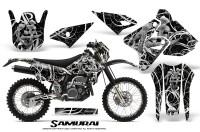 Suzuki-DRZ400-Enduro-CreatorX-Graphics-Kit-Samurai-White-Black-NP-Rims