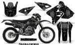 Suzuki DRZ400 Enduro CreatorX Graphics Kit Skullcified Black NP Rims 150x90 - Suzuki Dirt Bike Graphics