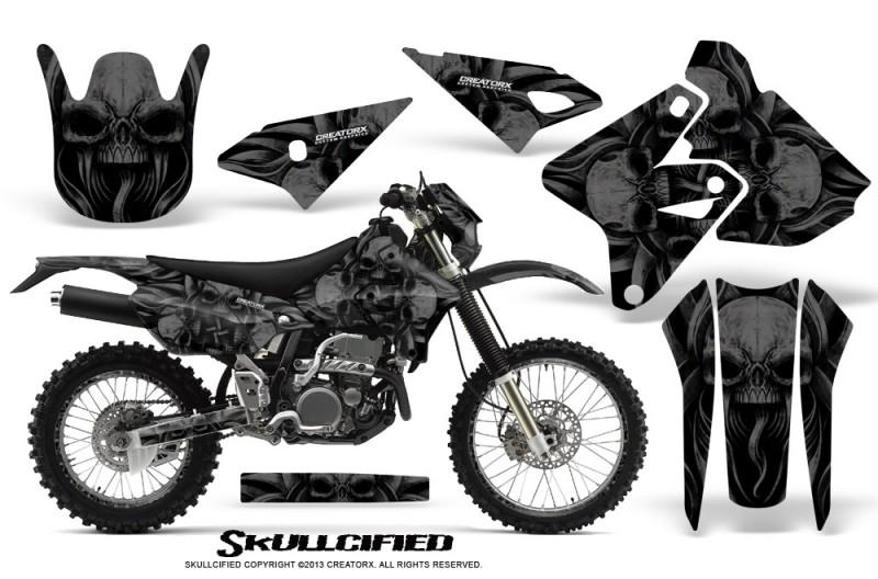 Suzuki-DRZ400-Enduro-CreatorX-Graphics-Kit-Skullcified-Black-NP-Rims