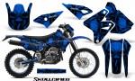 Suzuki DRZ400 Enduro CreatorX Graphics Kit Skullcified Blue NP Rims 150x90 - Suzuki Dirt Bike Graphics