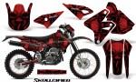 Suzuki DRZ400 Enduro CreatorX Graphics Kit Skullcified Red NP Rims 150x90 - Suzuki Dirt Bike Graphics