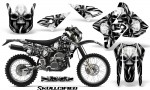 Suzuki DRZ400 Enduro CreatorX Graphics Kit Skullcified Silver NP Rims 150x90 - Suzuki Dirt Bike Graphics