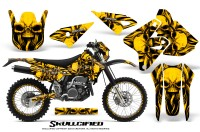 Suzuki-DRZ400-Enduro-CreatorX-Graphics-Kit-Skullcified-Yellow-NP-Rims