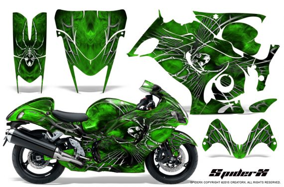 Suzuki-GSX-1300-Hayabusa-CreatorX-Graphics-Kit-SpiderX-Green
