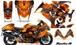 Suzuki GSX 1300 Hayabusa CreatorX Graphics Kit SpiderX Orange 150x90 - Suzuki GSXR 1300 Hayabusa 2008-2013 Graphics