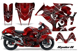 Suzuki GSX 1300 Hayabusa CreatorX Graphics Kit SpiderX Red 320x211 - Suzuki GSXR 1300 Hayabusa 2008-2013 Graphics