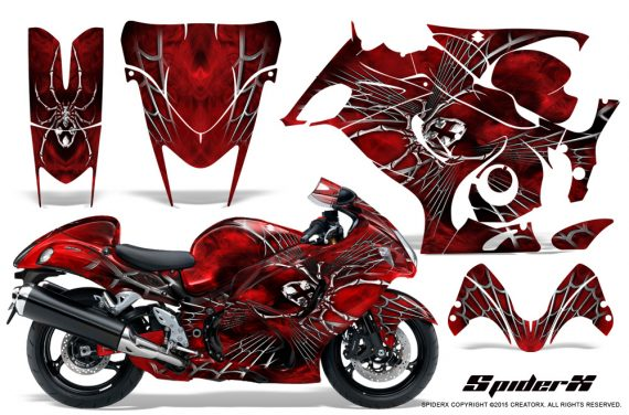 Suzuki-GSX-1300-Hayabusa-CreatorX-Graphics-Kit-SpiderX-Red