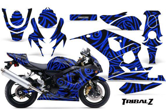 Suzuki GSXR 600 750 04 05 CreatorX Graphics Kit TribalZ Blue 570x376 - Suzuki GSXR 600/750 2004-2005 Graphics