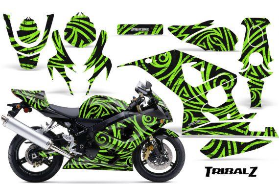 Suzuki GSXR 600 750 04 05 CreatorX Graphics Kit TribalZ Green 570x376 - Suzuki GSXR 600/750 2004-2005 Graphics