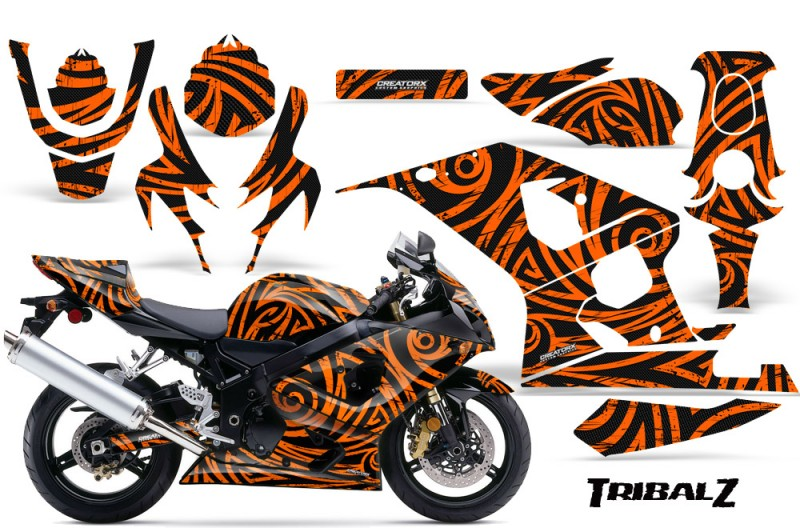 Suzuki-GSXR-600-750-04-05-CreatorX-Graphics-Kit-TribalZ-Orange