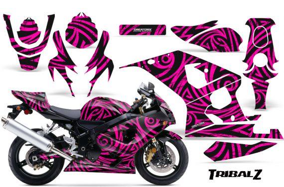 Suzuki GSXR 600 750 04 05 CreatorX Graphics Kit TribalZ Pink 570x376 - Suzuki GSXR 600/750 2004-2005 Graphics