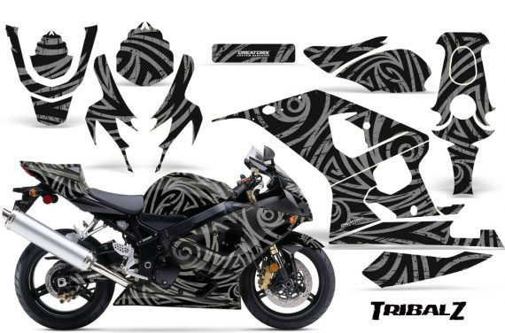 Suzuki GSXR 600 750 04 05 CreatorX Graphics Kit TribalZ Silver 570x376 - Suzuki GSXR 600/750 2004-2005 Graphics