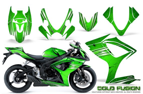 Suzuki GSXR 600 750 06 07 CreatorX Graphics Kit Cold Fusion Green 570x376 - Suzuki GSXR 600/750 2006-2007 Graphics