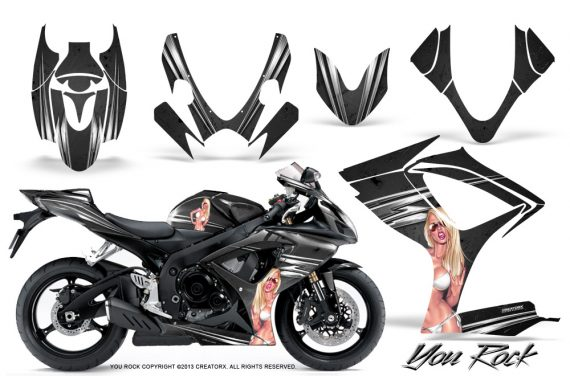 Suzuki GSXR 600 750 06 07 CreatorX Graphics Kit You Rock Black 570x376 - Suzuki GSXR 600/750 2006-2007 Graphics