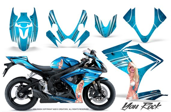 Suzuki GSXR 600 750 06 07 CreatorX Graphics Kit You Rock BlueIce 570x376 - Suzuki GSXR 600/750 2006-2007 Graphics