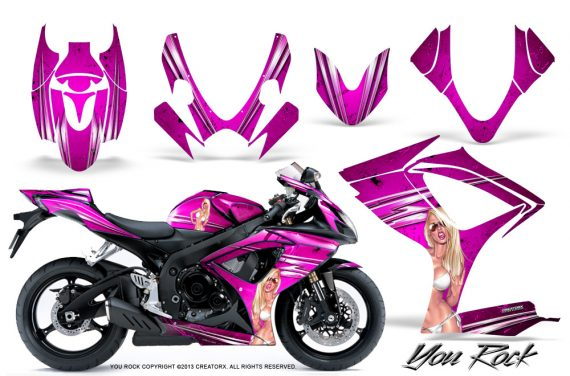 Suzuki GSXR 600 750 06 07 CreatorX Graphics Kit You Rock Pink 570x376 - Suzuki GSXR 600/750 2006-2007 Graphics