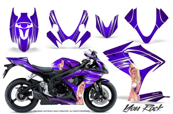 Suzuki GSXR 600 750 06 07 CreatorX Graphics Kit You Rock Purple 570x376 - Suzuki GSXR 600/750 2006-2007 Graphics