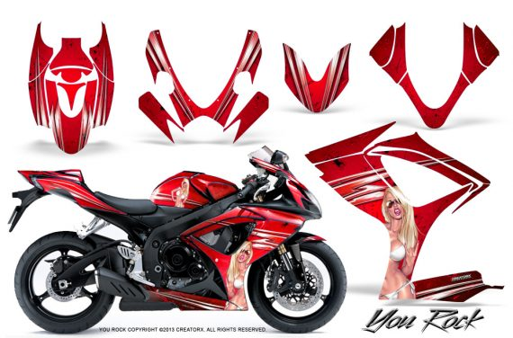 Suzuki GSXR 600 750 06 07 CreatorX Graphics Kit You Rock Red 570x376 - Suzuki GSXR 600/750 2006-2007 Graphics