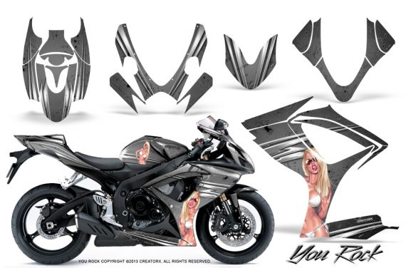 Suzuki GSXR 600 750 06 07 CreatorX Graphics Kit You Rock Silver 570x376 - Suzuki GSXR 600/750 2006-2007 Graphics