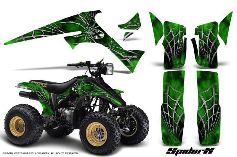 Suzuki-LT230-CreatorX-Graphics-Kit-SpiderX-Green