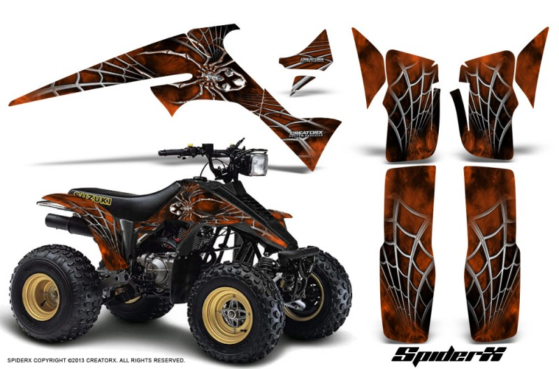 Suzuki-LT230-CreatorX-Graphics-Kit-SpiderX-OrangeDark