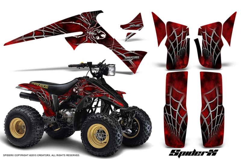 Suzuki-LT230-CreatorX-Graphics-Kit-SpiderX-Red