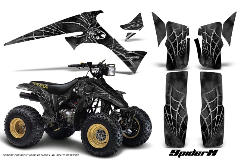 Suzuki-LT230-CreatorX-Graphics-Kit-SpiderX-Silver