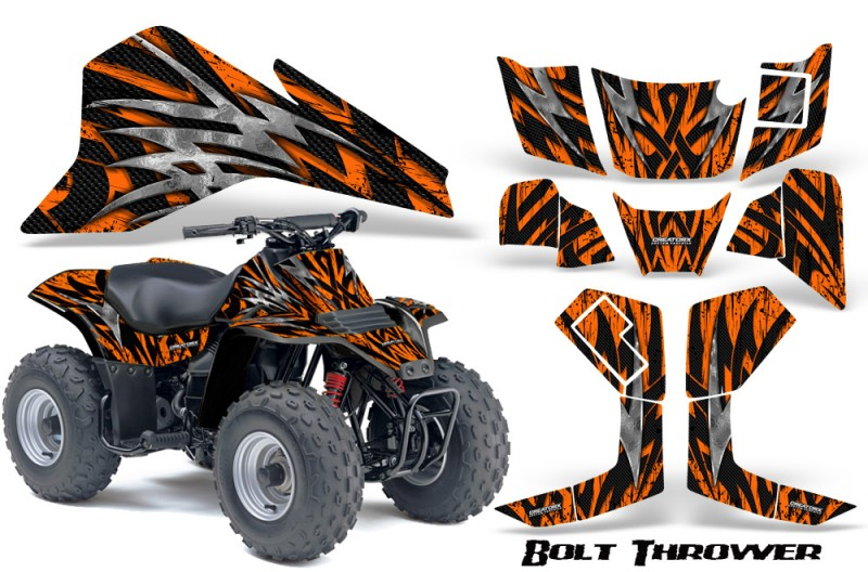 Suzuki-LT80-CreatorX-Graphics-Kit-Bolt-Thrower-Orange