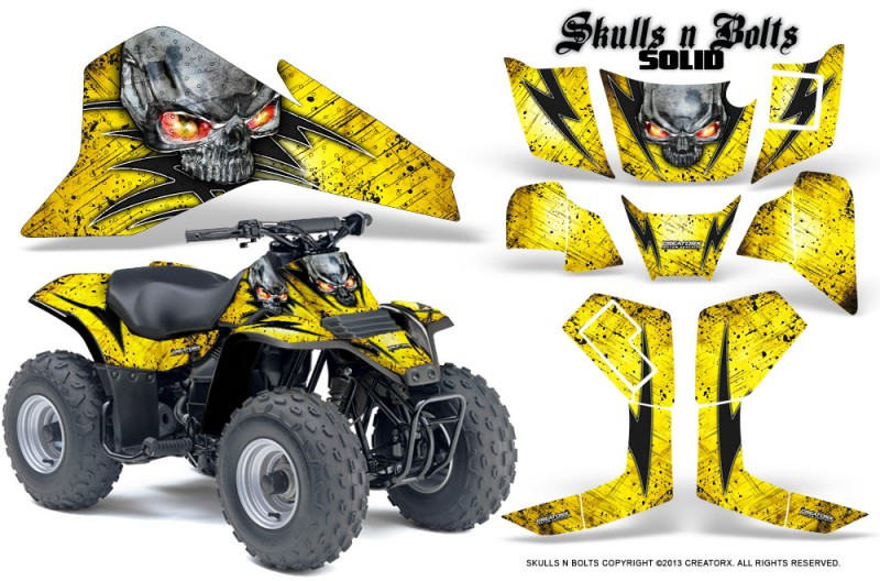 Suzuki-LT80-CreatorX-Graphics-Kit-Skulls-N-Bolts-Solid-Black-Yellow