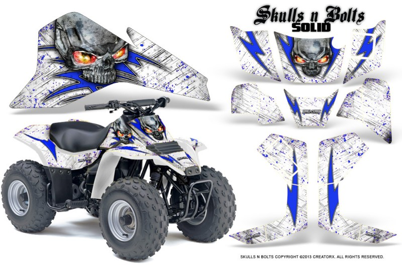 Suzuki-LT80-CreatorX-Graphics-Kit-Skulls-N-Bolts-Solid-Blue-White