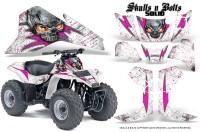 Suzuki-LT80-CreatorX-Graphics-Kit-Skulls-N-Bolts-Solid-Pink-White